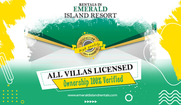 All vills are licensed and ownership 100% verified