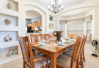 Formal dining with seating for 8