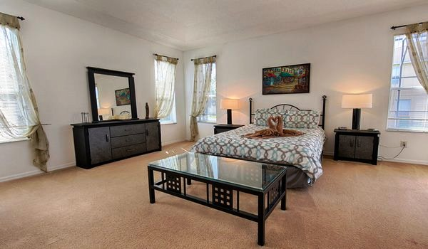 Master suite #1 has queen king bed and an attached bathroom