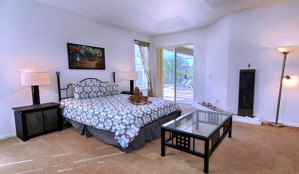 Master suite #1 has a direct view of the pool area