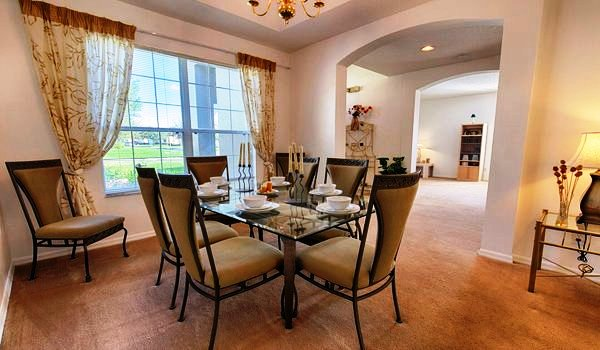 The spacious formal dining is ideal for all family meals