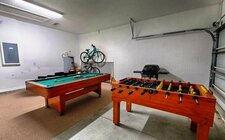 Garage converted as game-room
