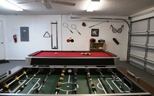 Game-room with pool table and foosball table