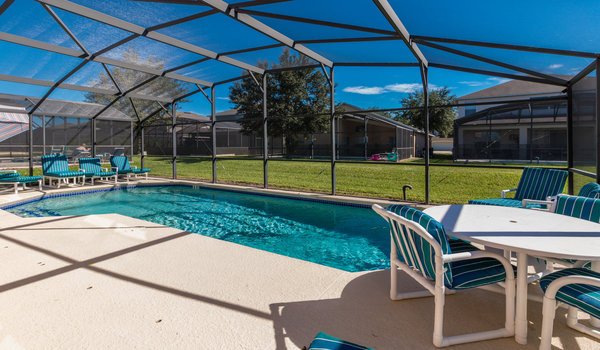 There is plenty of seating for the while family to hang-around by the pool