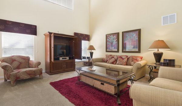 Spacious living room allows families to share their memories