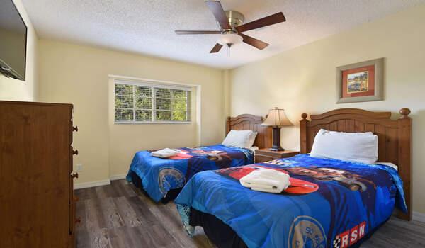 Kids bedroom located upstaris