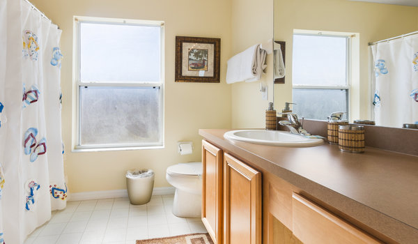 Family bathroom located upstairs