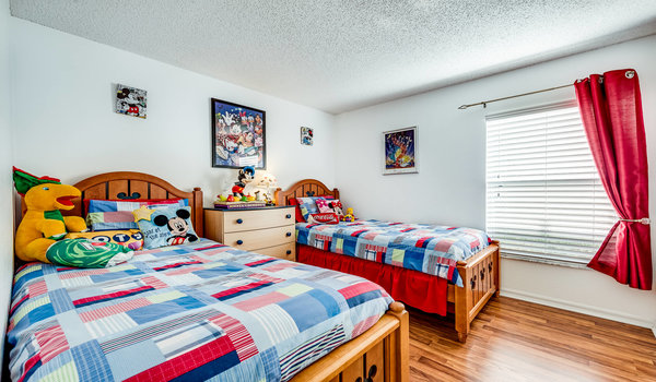Mickey Mouse bedroom with two twins