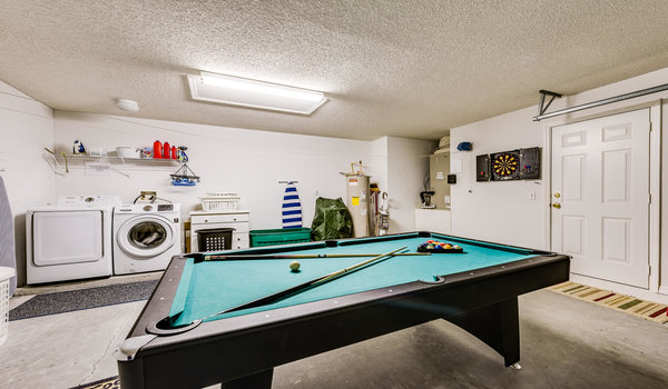 Garage with pool table