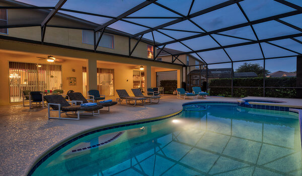 Pool at night, kids will never want to leave the pool!