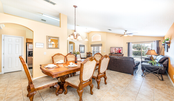 View of formal dining and living rooms