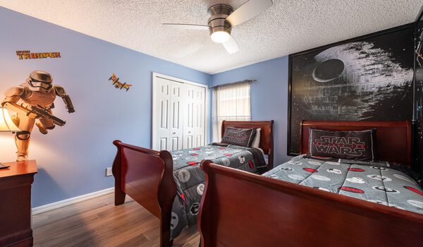 Bedroom #4: This boys bedroom has two twin beds