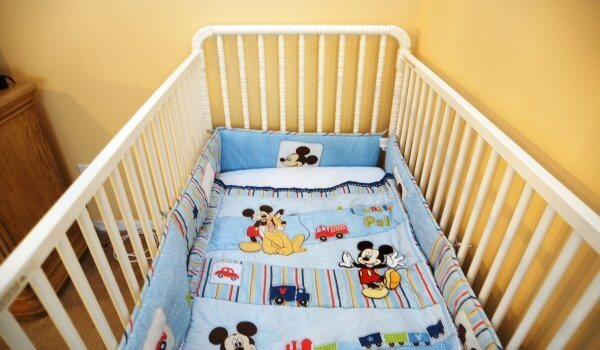 Full size crib included with the rental at no cost!