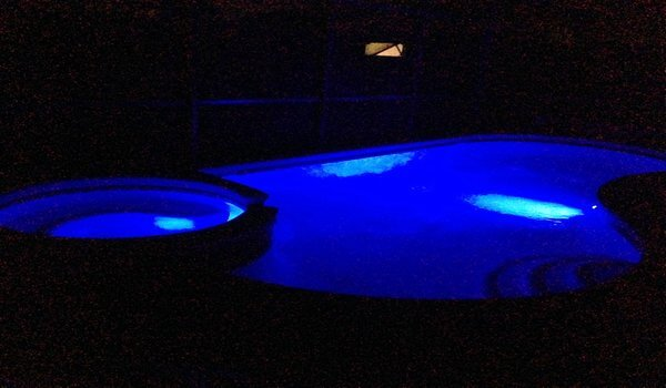 Unique color changing pool lights at night