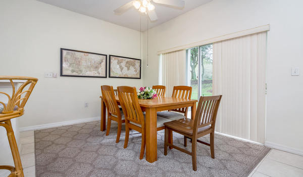 Spacious and open dining area