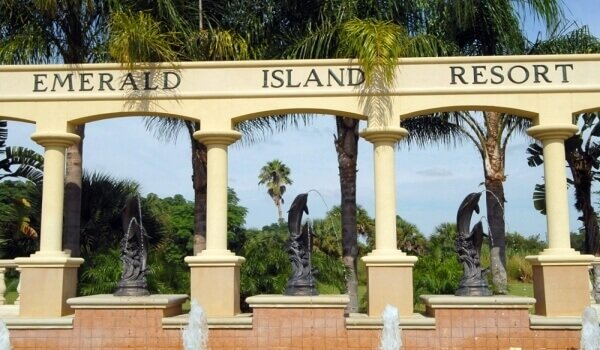 Entrance of Emerald Island Resort