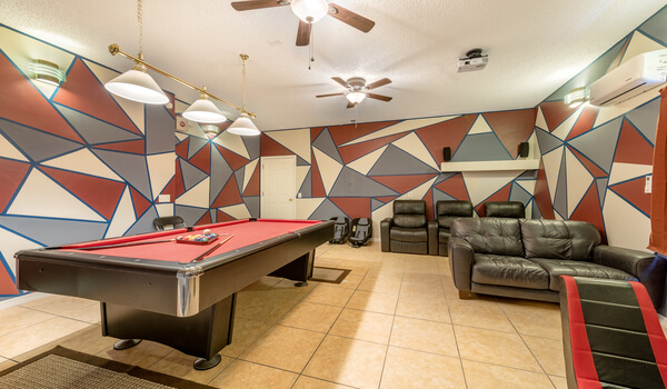 Pool table and theater-room make this the best villa choice