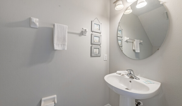 Powder-room/half-bath located on 1st floor
