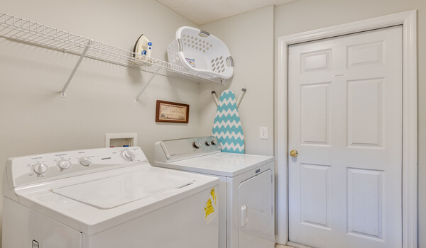 Full size laundry facilities in the villa
